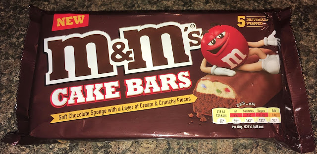 New M&Ms Cake Bars