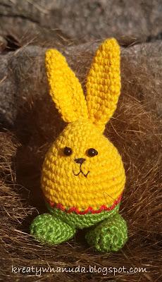 schemat szydełkowy królik…