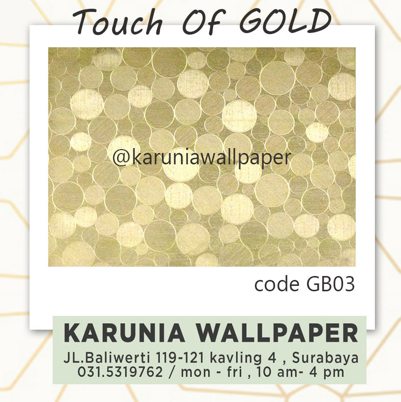 jual wallpaper emas metalik karuniawallpaper surabaya