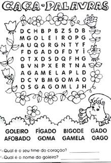 Caça-palavras com G