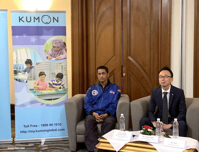 Dato' Dr Sheikh Muszaphar Shukor, Malaysia's First Astronaut and Mr Sugawa, General Manager of Kumon Malaysia