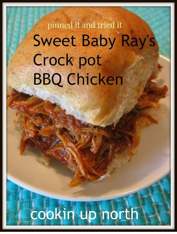 Sweet Baby Ray's Crock Pot BBQ Chicken