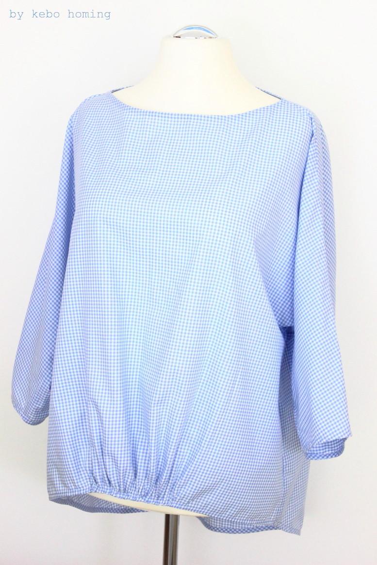 Eine selbstgenähte Bluse in der Trendfarbe Pantone 2016 Serenity, hellblau, DIY, Nähen, kreativ am Dienstag bei kebo homing, Südtiroler Food- und Lifestyleblog