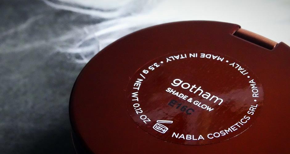 SHADE &GLOW - PUDROWY BRONZER/ NABLA GOTHAM, wegański bronzer, konturowanie jasnej cery, chłodny odcień bronzera
