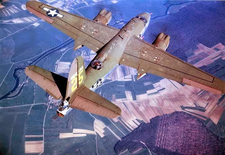 B-26 Marauder 25 che partecipò al bombardamento di lesegno