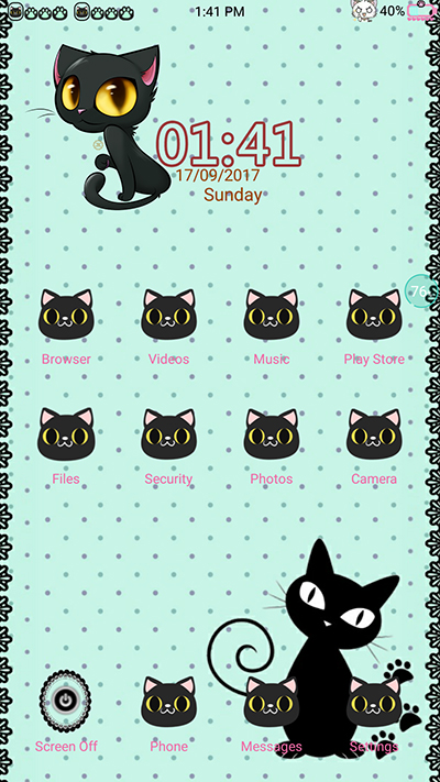 Oppo Theme: Oppo F3 Black Cat Theme