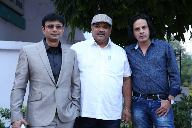 Prasun Kumar, Vierendrra Lalit, Rahul Roy during the launch of The Message in New Delhi