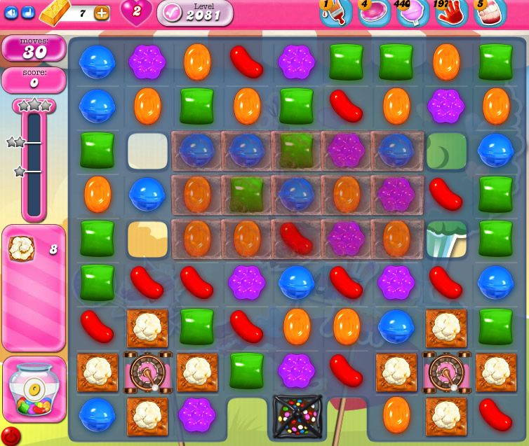 Candy Crush Saga level 2081