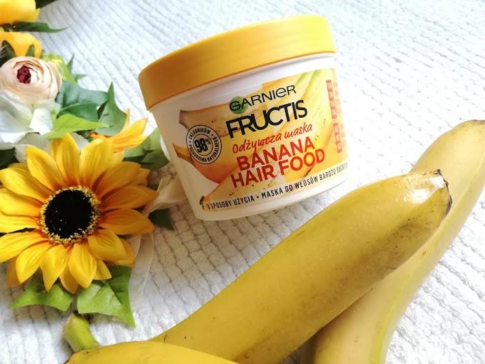 Odżywcza maska Banana Hair Food od Garnier Fructis do włosów bardzo suchych