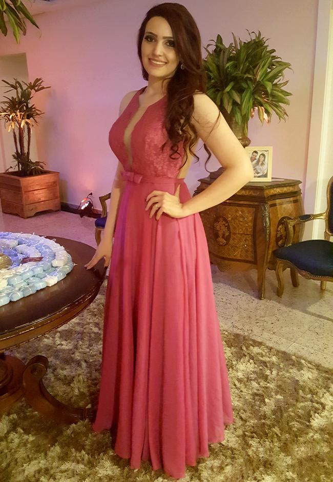 Vestidos longos para festa rosa