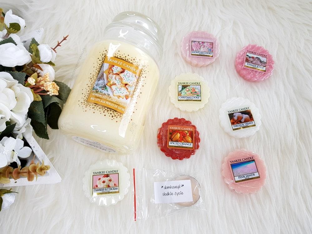 Świeca Sprinkled Sugar Cookie Yankee Candle i zestaw wosków