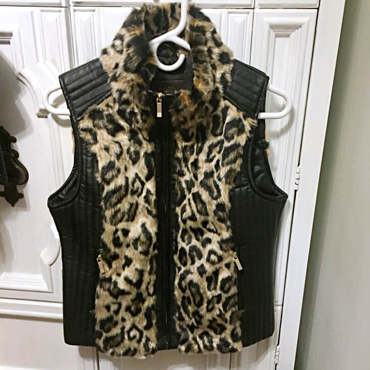 Ci Sono by Cavalini faux fur and leather vest