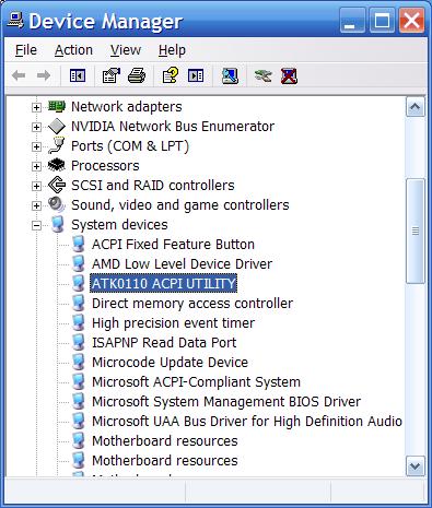 ACPI Bus Enumerator 64 BIT