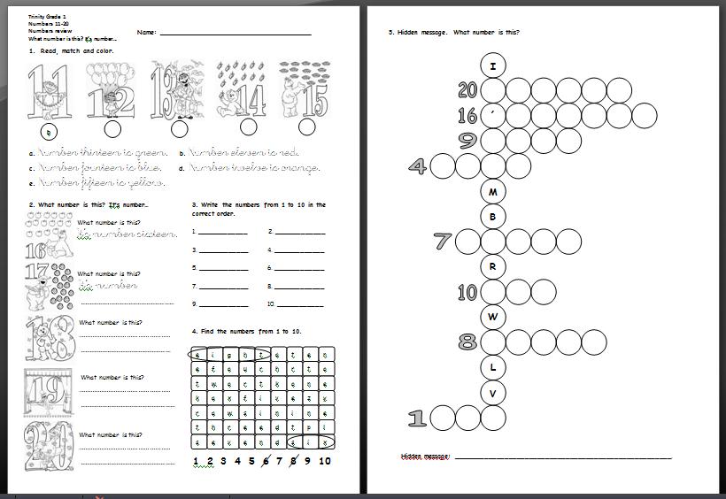 Number Names Worksheets printable numbers 1-20 : Number Names Worksheets : numbers in english 1 to 20 ~ Free ...