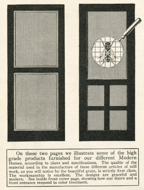 Sears screen doors in 1920 Sears Modern Homes catalog