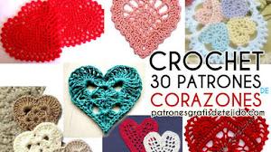 30 Patrones de Corazones Crochet