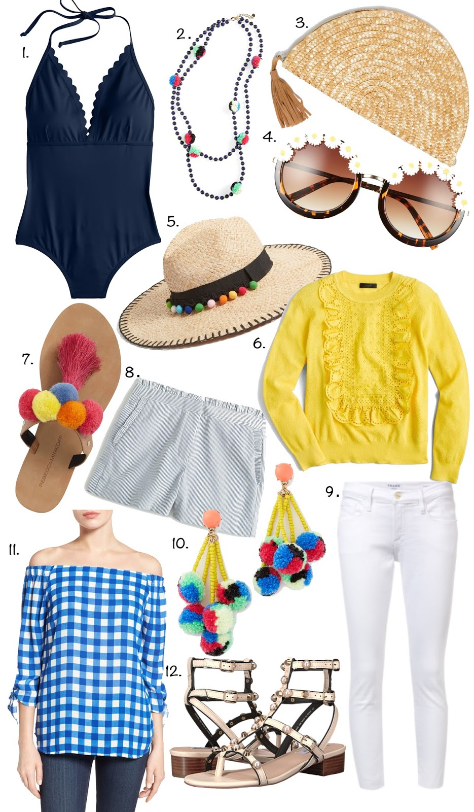 Scalloped Swimsuit, Tassels, Pom-poms and more...click through to find all the details!