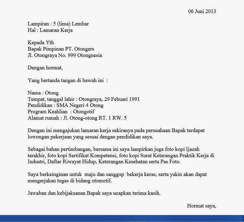 Contoh Surat Lamaran Pt Astra Honda Motor