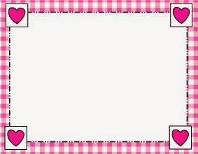 Free Printable Wedding Frames or Borders with Hearts in Pink.