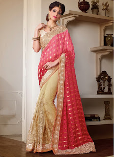 bridal saree work designs of stone