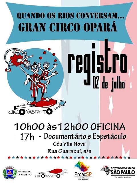 """Registro-SP recebe o grupo """"Circo do Asfalto"""" neste sábado, 2 de julho"""
