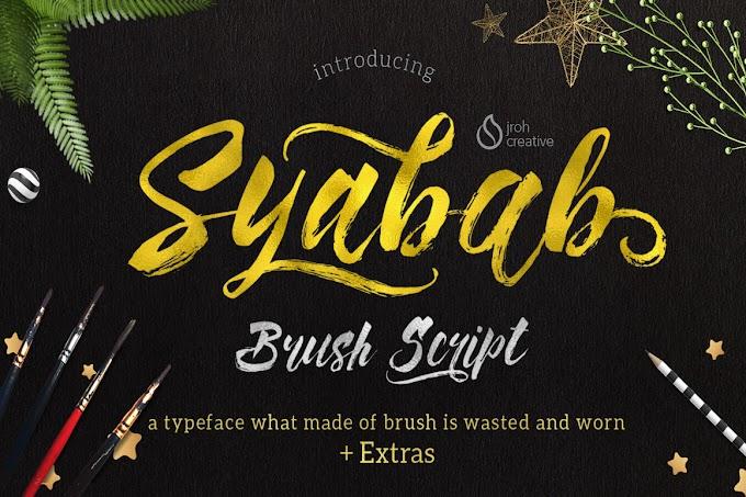 Download Syabab Brush Script Font Free
