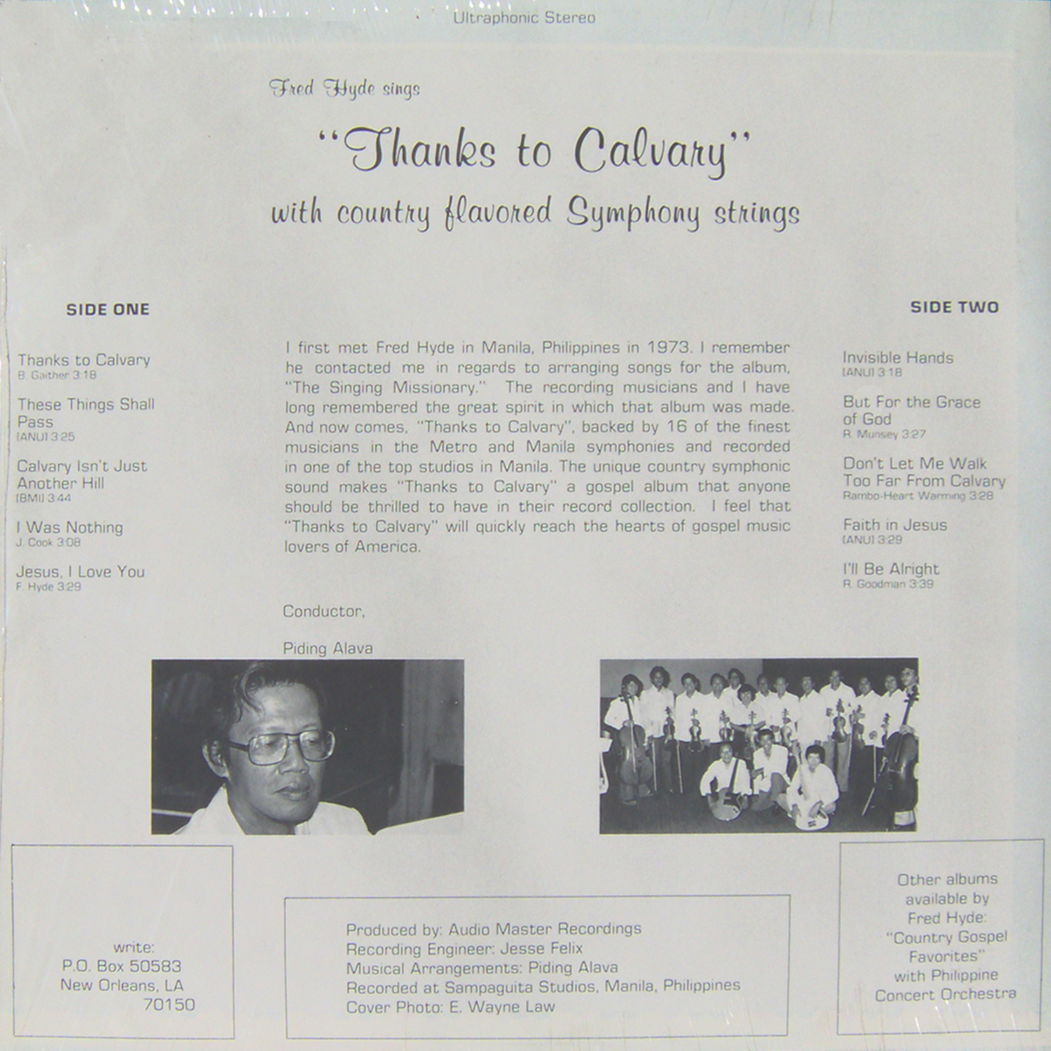 Hymn Time Music Blog: Fred Hyde-Thanks to Calvary