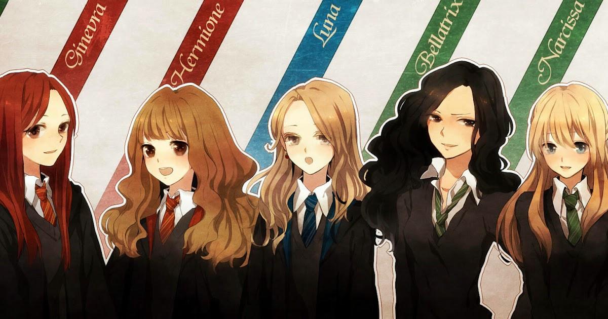 hogwarts alumni harry potter ladies anime