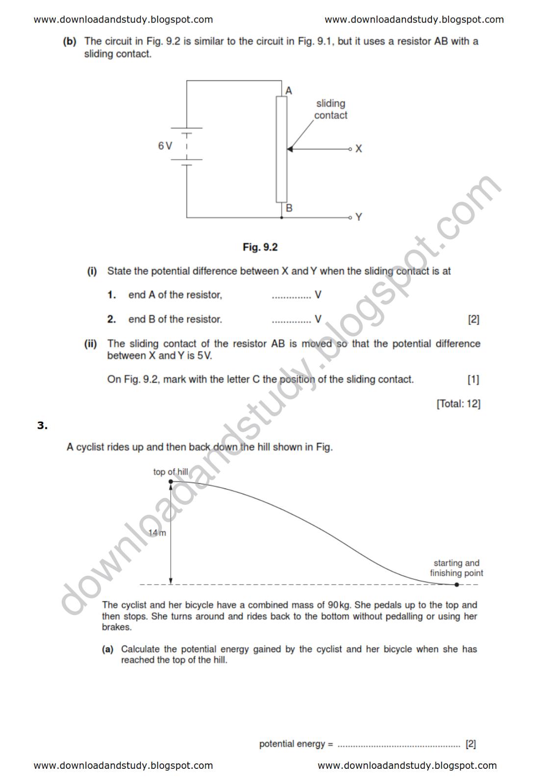 Download Amp Study Igcse Physics Test Worksheet