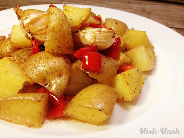 Печени картофи по гръцки