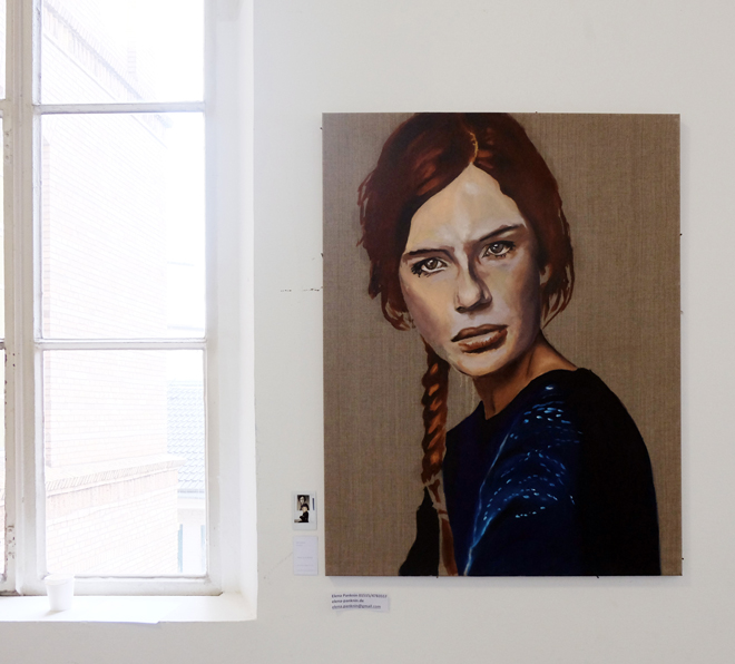 Kunstakademie, Düsseldorf, Rundgang 2017, Kunst, Hochschule, Malerei, Portrait, Elena Panknin
