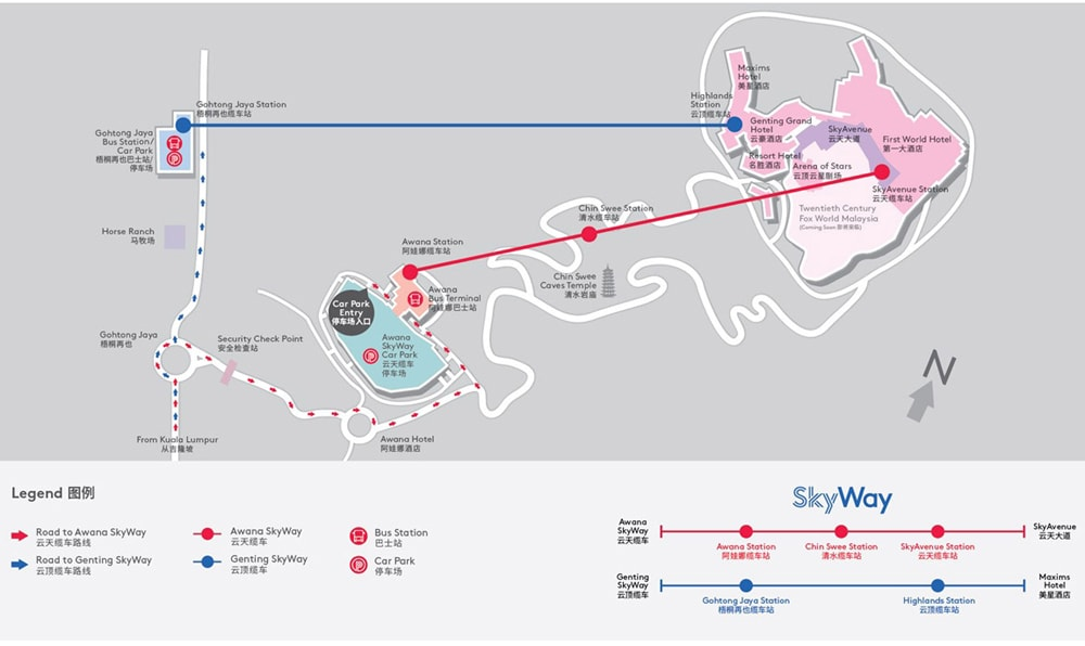 Awana Skyway Genting Map