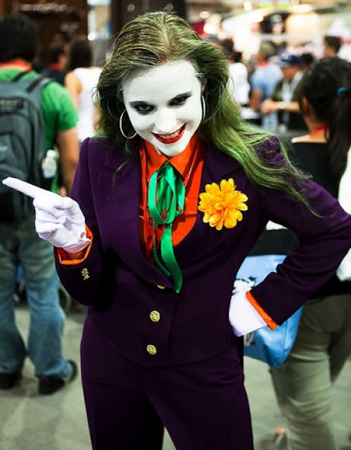 Female Tim Burton Joker costume