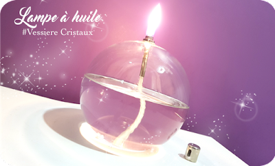 Lampe à huile Vessiere cristaux Idée déco tendance