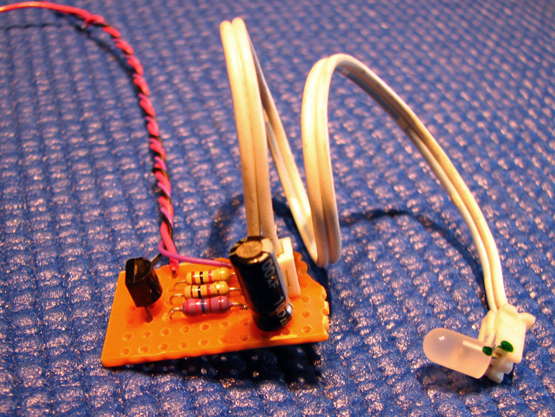 Very Simple Led Flashing With Sound Electronic Projects Circuits