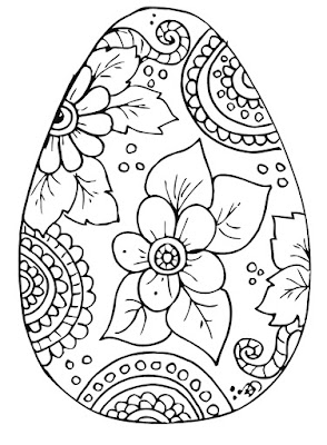 eggs coloring pages easter