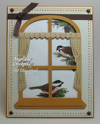 "Our Daily Bread designs ""Chickadee Ornament"", ""ODBD Window Die Set"" Designer Angie Crockett"