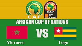 football games thursday 19/01/2017 Morocco  vs Togo African Nations Cup 2017 Gabon مقابلة المغرب - الطوغو