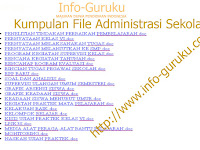 [info guru] Kumpulan file Administrasi lengkap keperluan Sekolah dan kelas tahun 2015-2016