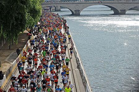 Calendários de corridas e maratonas em Paris em 2017