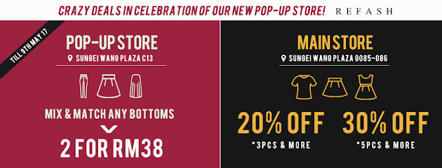 Refash Malaysia Pop-up Store Discount Promo
