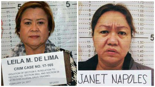 De Lima allegedly tried to extort money from Napoles