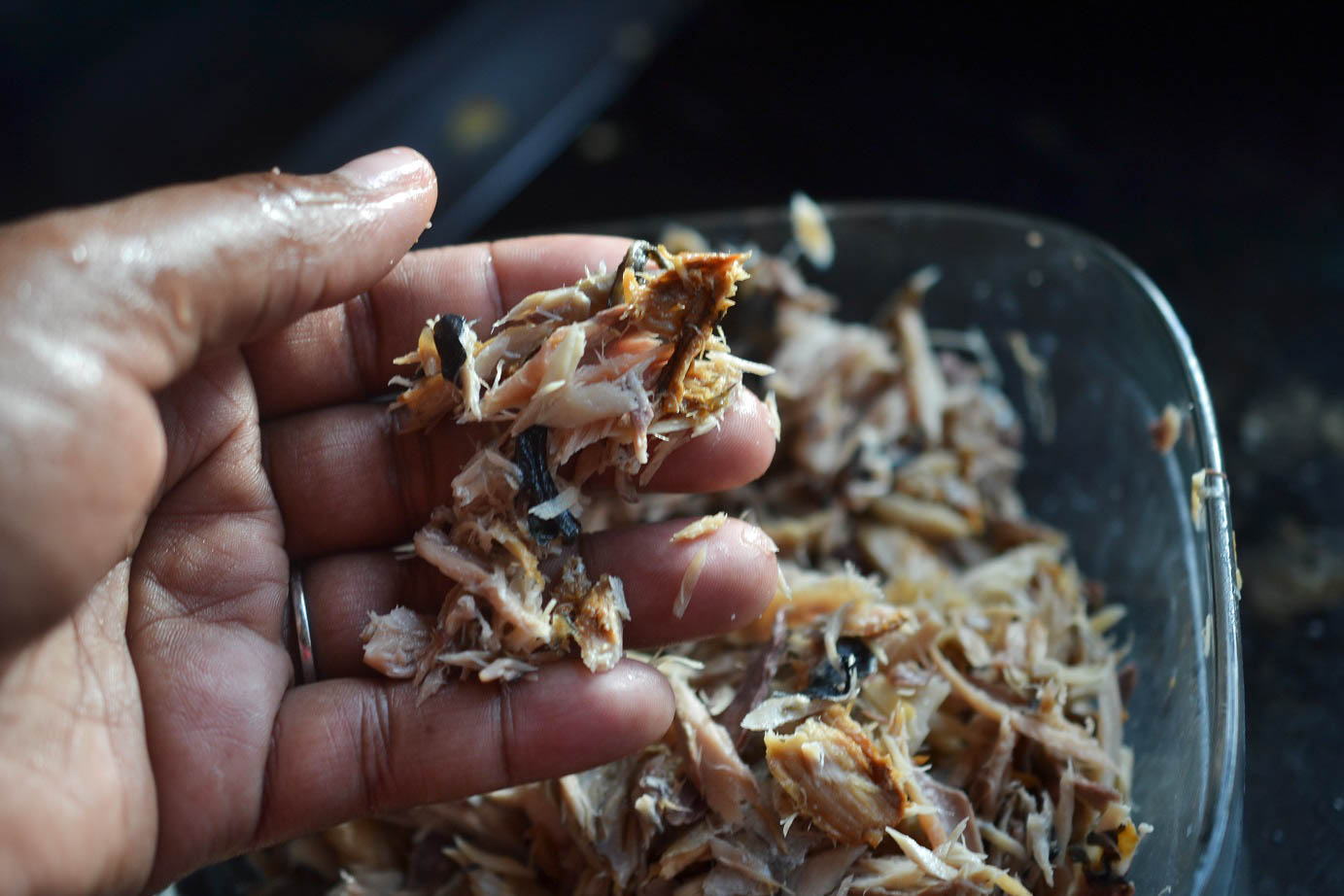 greedy girl  authenticish jamaican mackerel run down