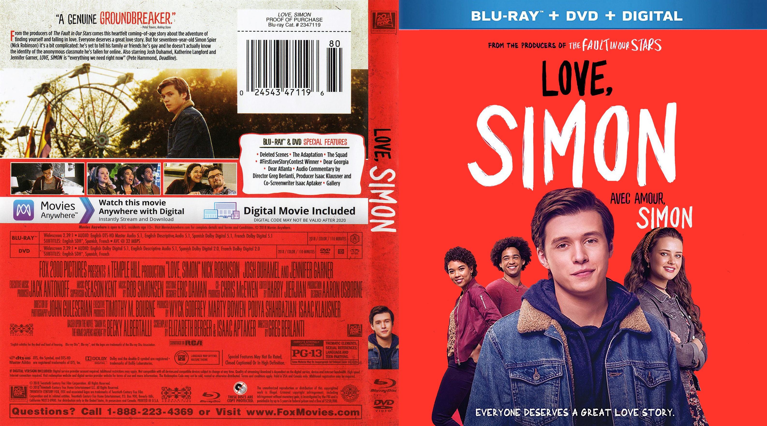 Love Simon Dvd