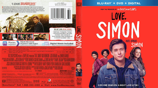 Love, Simon (scan) Bluray Cover