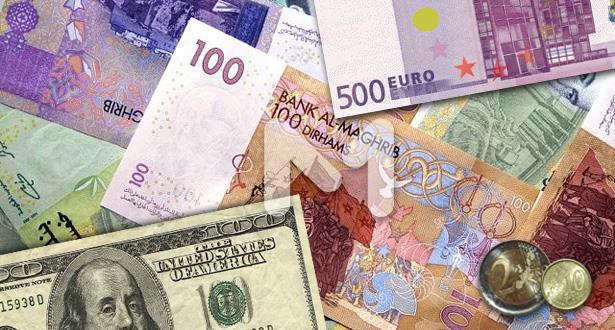 ارتفاع الدرهم أمام الدولار وانخفاضه أمام الأورو