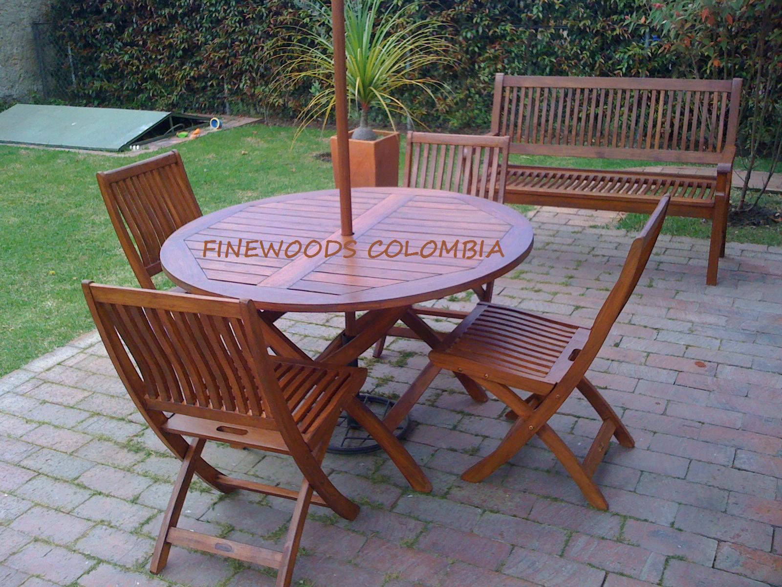 Finewoods colombia muebles exterior - Muebles de madera teca ...