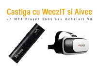 Castiga un MP3 Player Sony + o pereche de ochelari VR