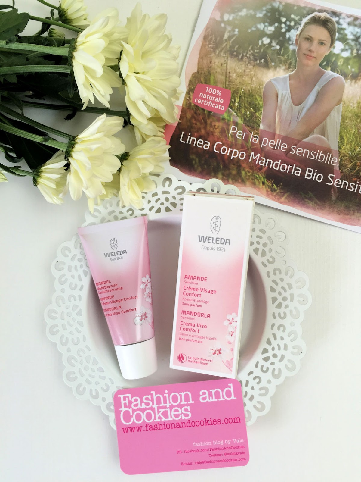 Weleda Almond line for sensitive skin review on Fashion and Cookies beauty blog, beauty blogger
