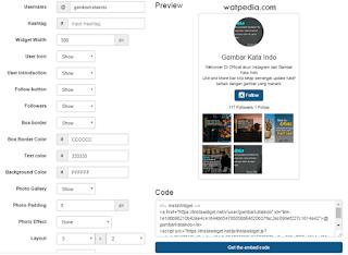 Cara Membuat Widget Instagram Di Blog Dengan Mudah